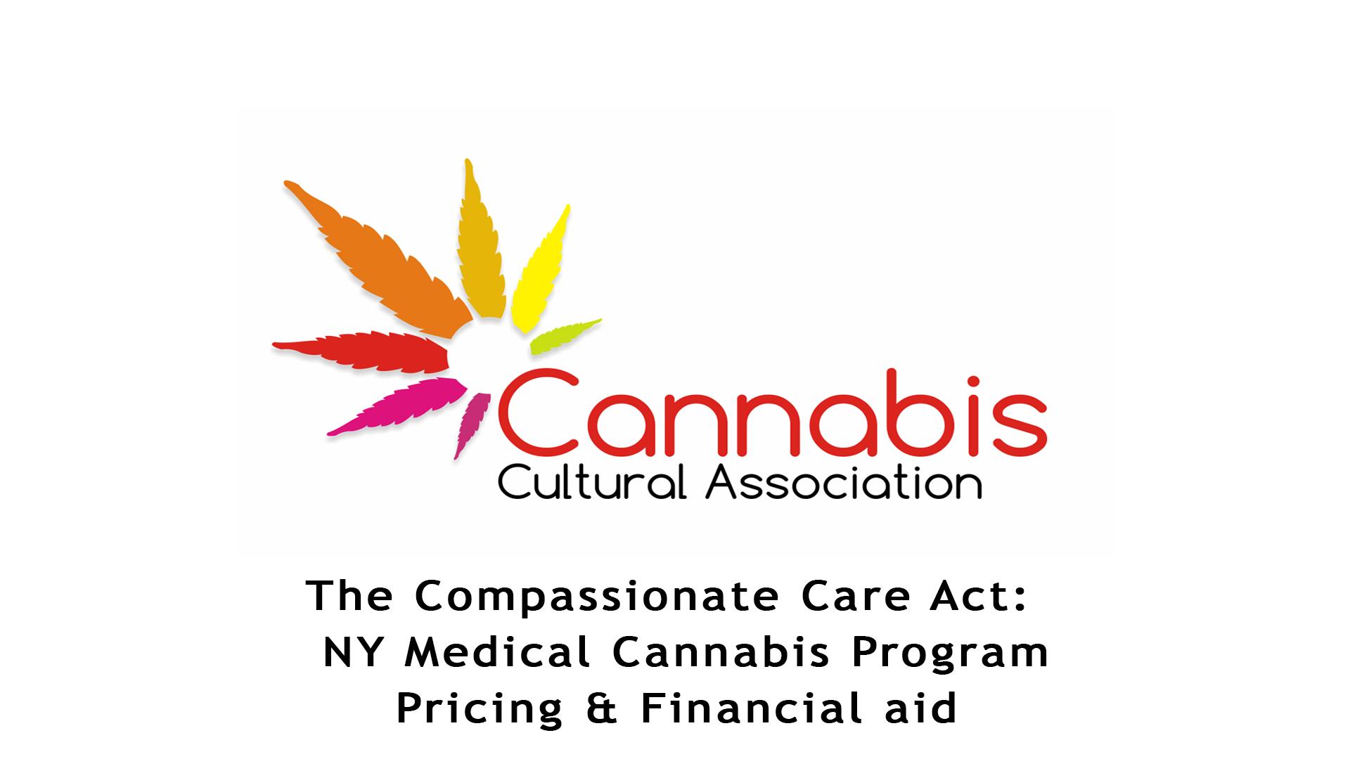 NY Medical Cannabis Program Pricing & Financial aid