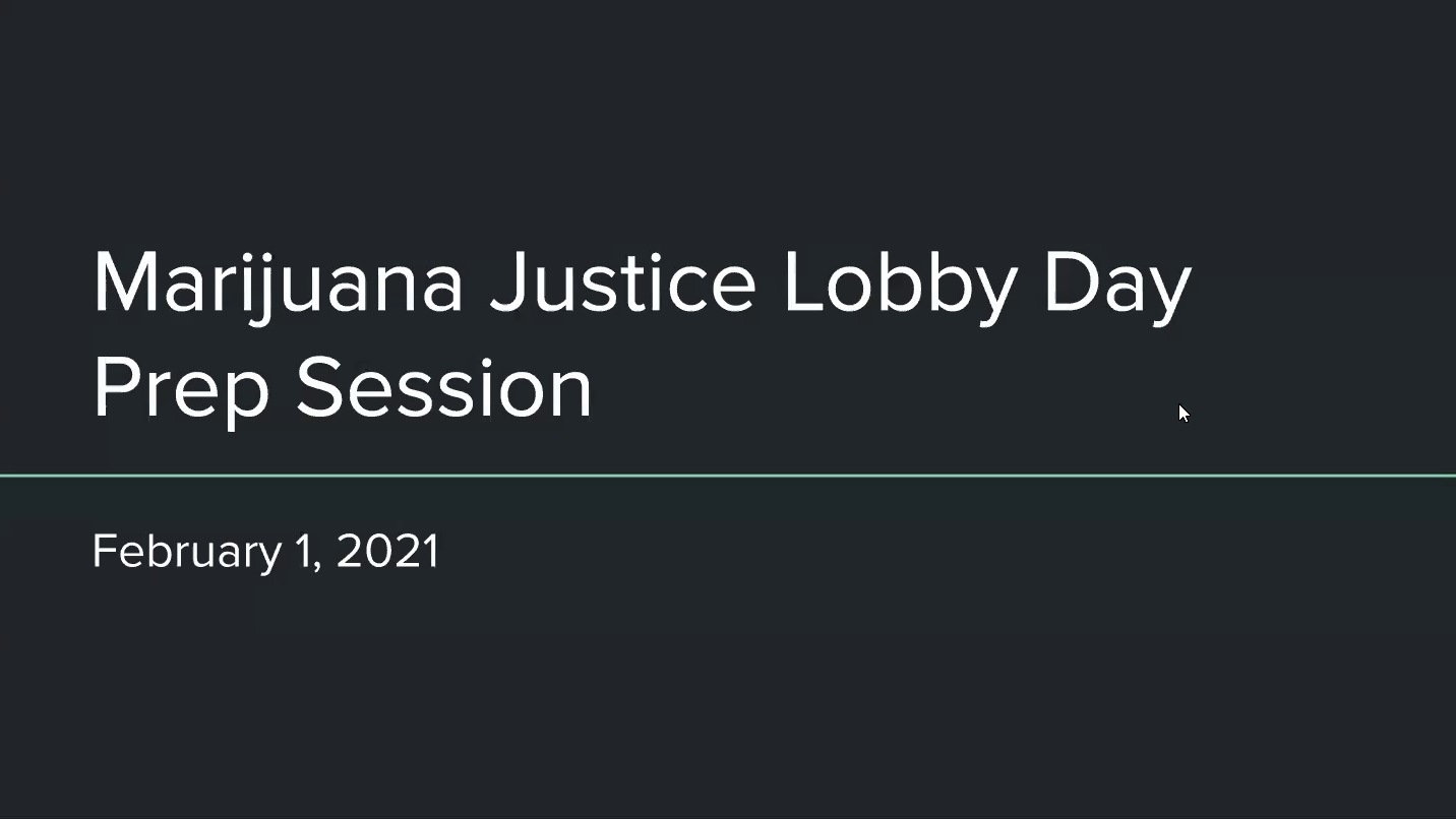 Marijuana Justice Lobby Day prep session
